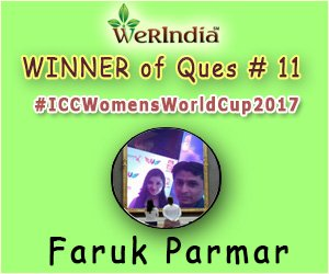 ICC Women's World Cup 2017- Winners of Ques #11