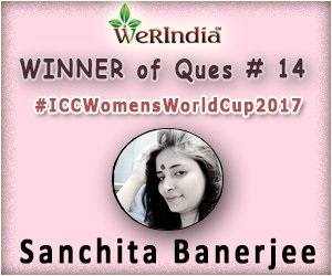 ICC Women's World Cup 2017- Winners of Ques #14